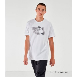 Men's The North Face New Stripe 19 T-Shirt White On Sale