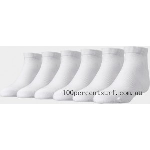 Black Friday 2021 Kids' Finish Line 6-Pack Low Cut Socks White Clearance Sale