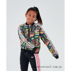 Black Friday 2021 Girls' adidas Originals Cropped SST Track Jacket Multicolor/White Clearance Sale