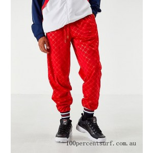 Black Friday 2021 Men's Fila Mitchell Track Pants Red Clearance Sale