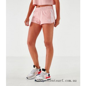Black Friday 2021 Women's adidas Mono Athletic Shorts Pale Pink/White Clearance Sale