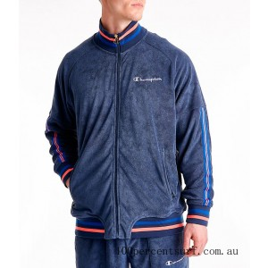 Men's Champion Terry Warm-Up Jacket Imperial Indigo On Sale