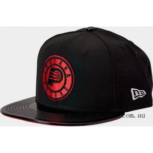 New Era Indiana Pacers NBA 9FIFTY Snapback Hat Black/Red On Sale