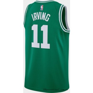 Men's Nike Boston Celtics NBA Kyrie Irving Icon Edition Connected Jersey Clover On Sale