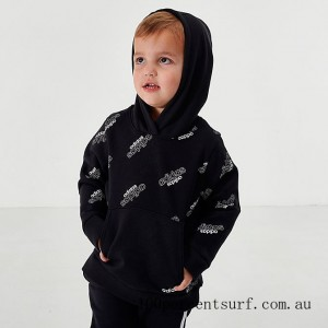 Boys' Toddler and Little Kids' adidas Core Allover Print Hoodie Black On Sale