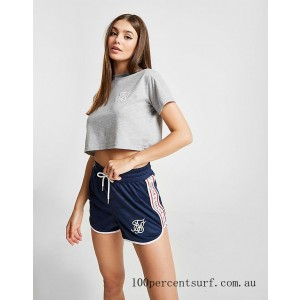 Black Friday 2021 Women's SikSilk Tape Athletic Shorts Navy Clearance Sale