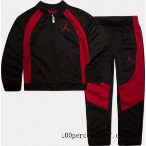 Black Friday 2021 Boys' Little Kids' Air Jordan Retro 1 Tricot Track Jacket and Pants Set Black/Gym Red Clearance Sale