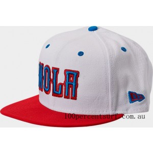 New Era New Orleans Pelicans NBA Split Color 9FIFTY Snapback Hat White/Red/Blue On Sale