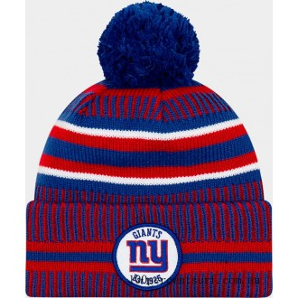 New Era New York Giants NFL Home Striped Sideline Beanie Hat Team Colors On Sale