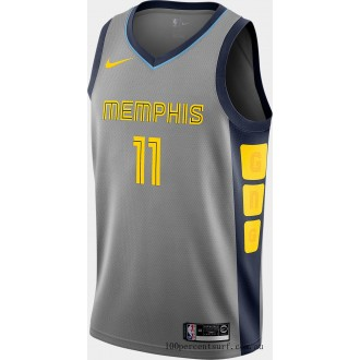 Men's Nike Memphis Grizzlies NBA Mike Conley City Edition Connected Jersey Steel Grey On Sale