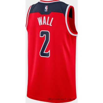 Men's Nike Washington Wizards NBA John Wall Icon Edition Connected Jersey University Red/College Navy On Sale