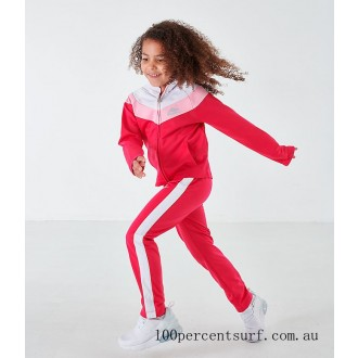 Girls' Little Kids' Nike Tricot Track Jacket and Pants Set Rush Pink On Sale