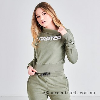 Black Friday 2021 Women's Starter Crop Turtleneck Top Army Green Clearance Sale