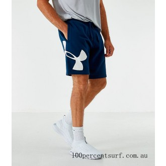 Black Friday 2021 Men's Under Armour Rival Fleece Logo Shorts Acedemy/White Clearance Sale
