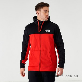 Men's The North Face Surgent Bloc 2.0 Full-Zip Hoodie TNF Black/Red On Sale