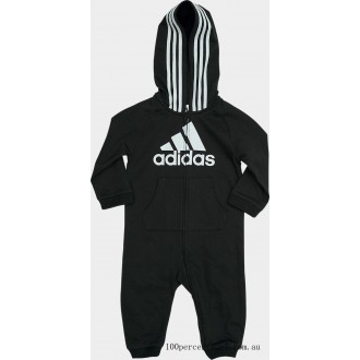 Boys' Infant adidas Badge of Sport Coverall Onesie Black On Sale