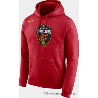 Men's Nike Cleveland Cavaliers NBA City Edition Logo Essential Hoodie Team Red On Sale