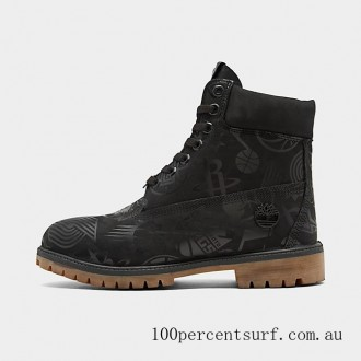 Men's Timberland x NBA East vs. West 6 Inch Classic Premium Boots Black/Allover NBA On Sale