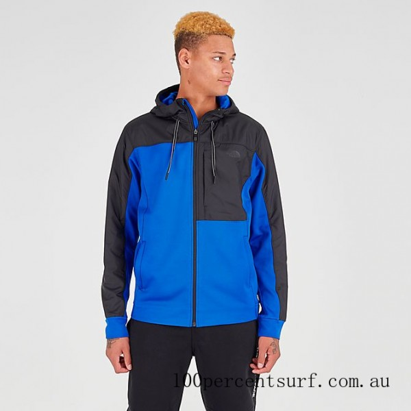 Black Friday 2021 Men's The North Face Essential Fleece Full-Zip Hoodie TNF Blue/Black Clearance Sale