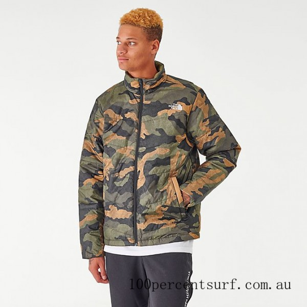 Men's The North Face Junction Insulated Jacket Camo On Sale