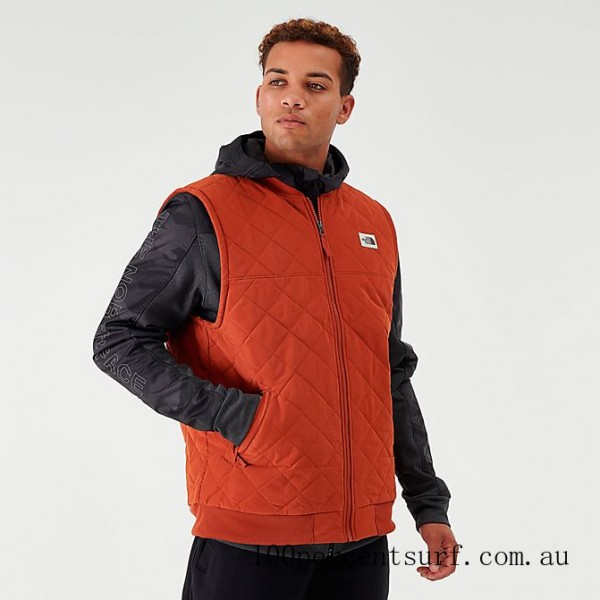 Black Friday 2021 Men's The North Face Cuchillo Insulated Vest Red Clearance Sale