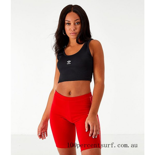 Black Friday 2021 Women's adidas Originals Cropped Tank Top Black Clearance Sale