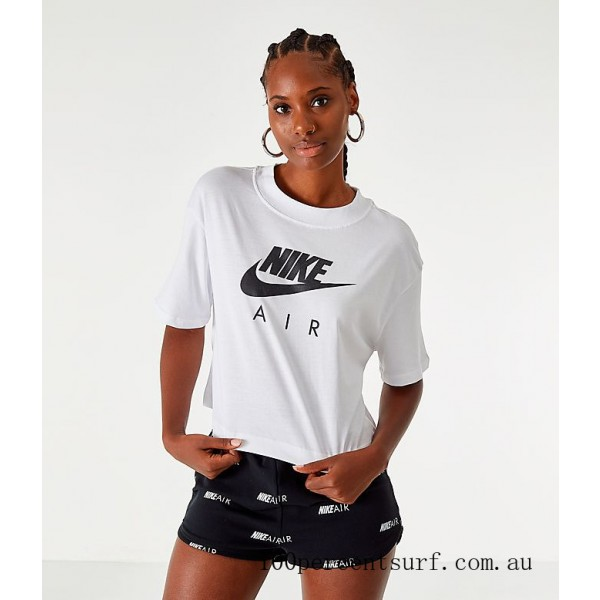 Women's Nike Air Cropped T-Shirt White On Sale