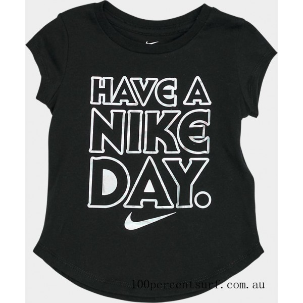 Black Friday 2021 Girls' Toddler Have A Nike Day T-Shirt Black Clearance Sale