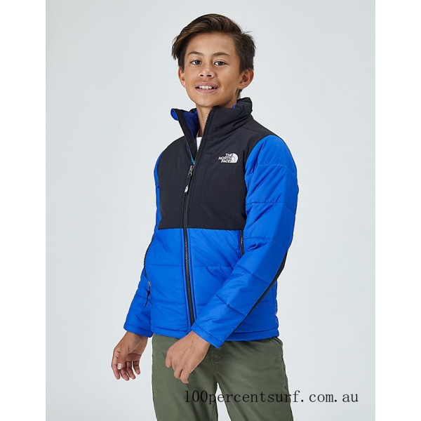 Kids' The North Face Balanced Rock Insulated Jacket Blue/Black On Sale