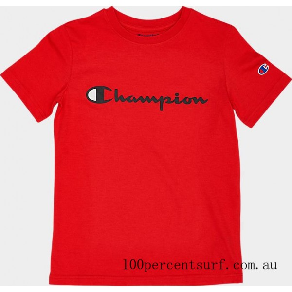 Black Friday 2021 Kids' Champion Heritage T-Shirt Red Clearance Sale