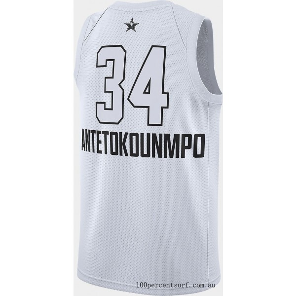 Men's Air Jordan NBA Giannis Antetokounmpo All-Star Edition Connected Jersey White On Sale