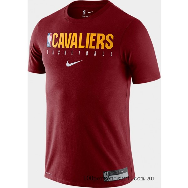 Men's Nike Cleveland Cavaliers NBA Practice T-Shirt Team Red On Sale
