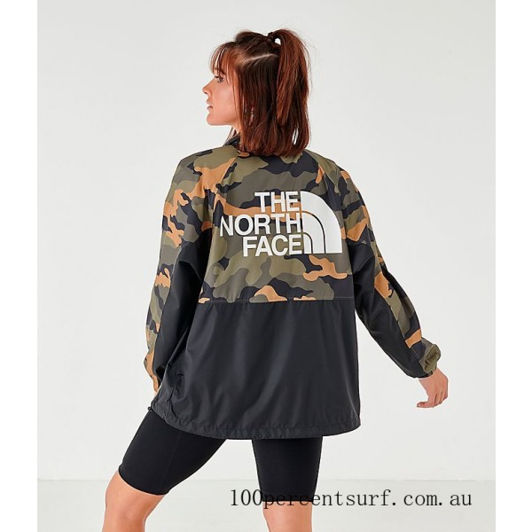 Women's The North Face Wind Jacket Camo On Sale