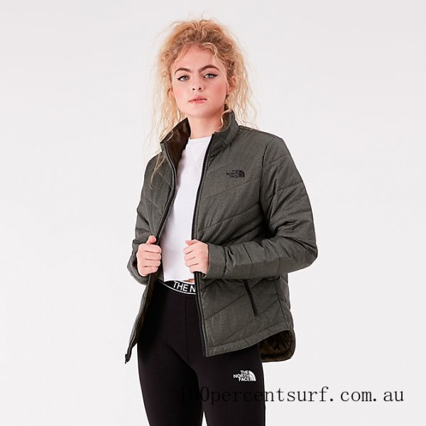 Black Friday 2021 Women's The North Face Tamburello Jacket Taupe Green Clearance Sale