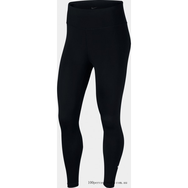 Black Friday 2021 Women's Nike One 7/8 Tights Black/White Clearance Sale