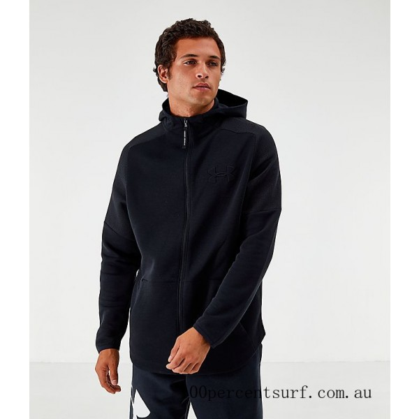 Black Friday 2021 Men's Under Armour Unstoppable Move Light Full-Zip Hoodie Black Clearance Sale