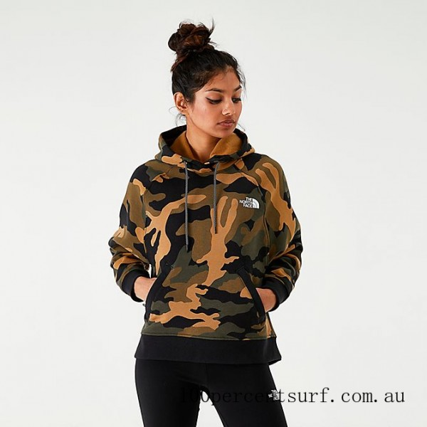 Black Friday 2021 Women's The North Face Graphic Pullover Hoodie Camo Clearance Sale
