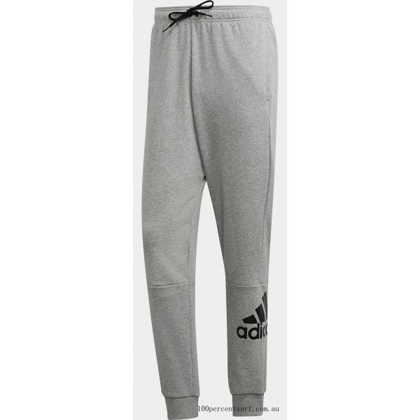 Men's adidas Must Haves French Terry Badge of Sport Sweatpants Medium Grey Heather/White On Sale