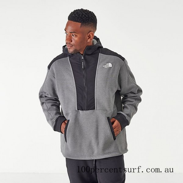 Men's The North Face Graphic Collection Half-Zip Hoodie TNF Grey/Heather On Sale