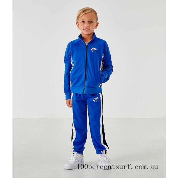 Boys' Little Kids' Nike Air Tricot Track Jacket and Pants Set Game Royal On Sale