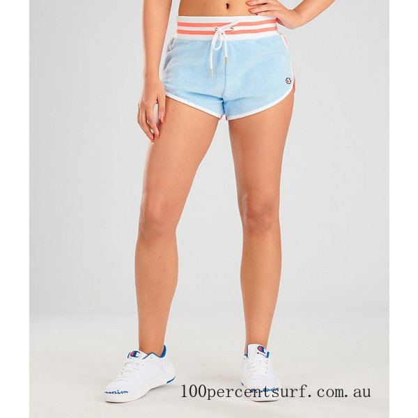 Women's Champion Life Terry Shorts Oceanfront Blue On Sale