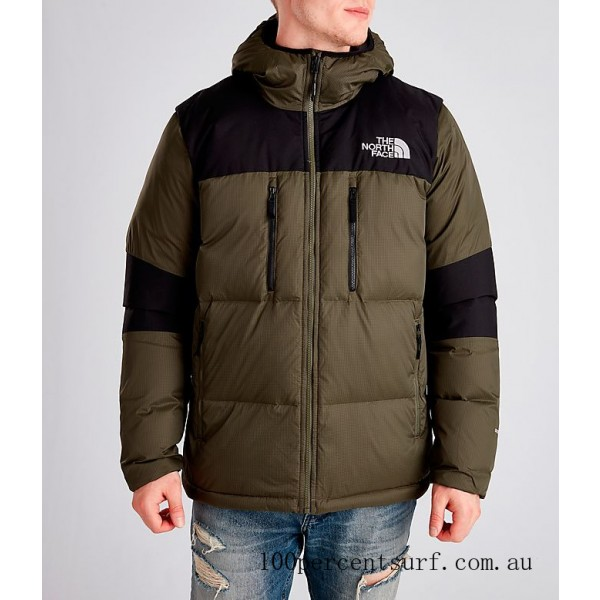 Men's The North Face Himalayan Parka Dark Green On Sale