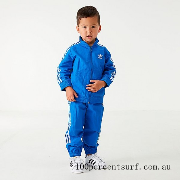 Black Friday 2021 Boys' Infant and Toddler adidas Originals New Icon Track Suit Bluebird/White Clearance Sale