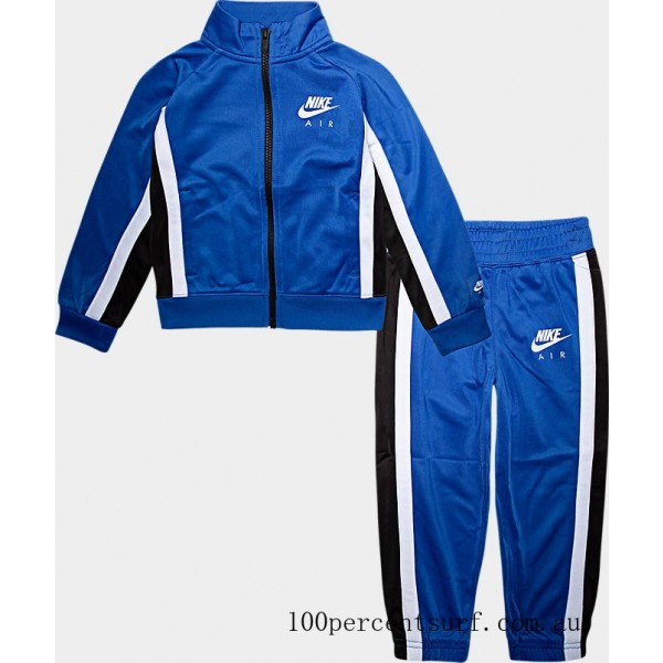 Black Friday 2021 Boys' Toddler Nike Air Tricot Track Jacket and Pants Set Game Royal Clearance Sale