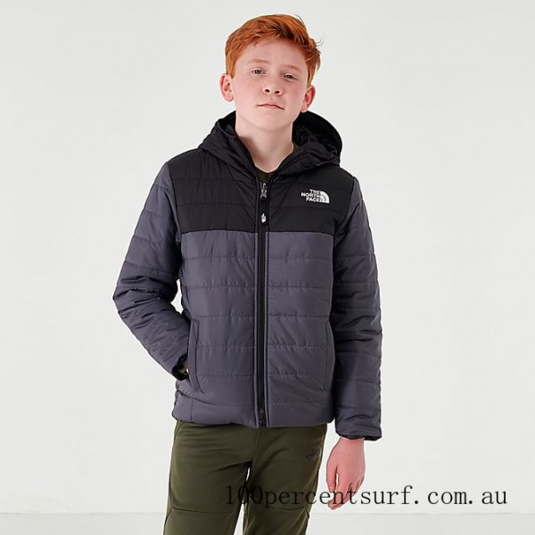 Boys' The North Face Reversible Perrito Jacket Grey/Black On Sale