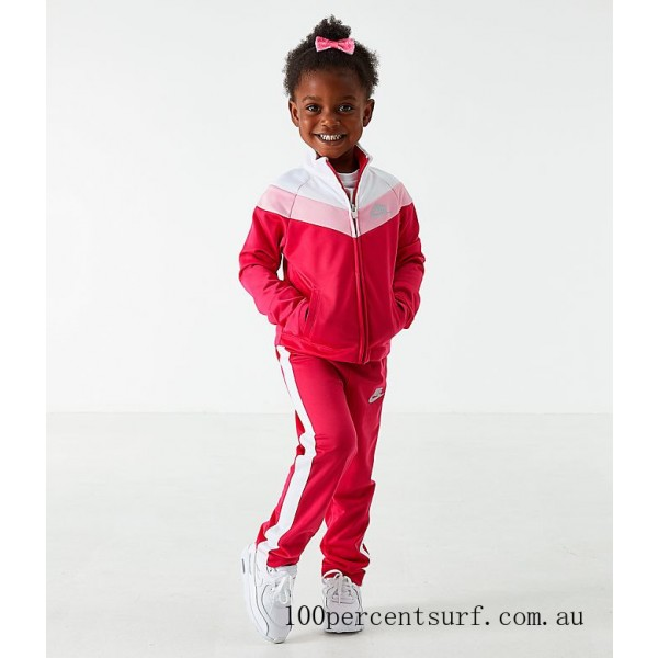 Girls' Toddler Nike Tricot Track Jacket and Pants Set Rush Pink On Sale