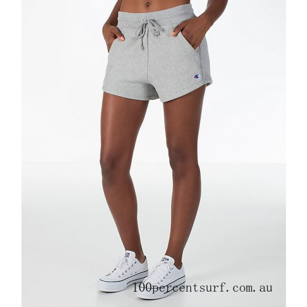 Black Friday 2021 Women's Champion Heritage Shorts Oxford Grey Clearance Sale