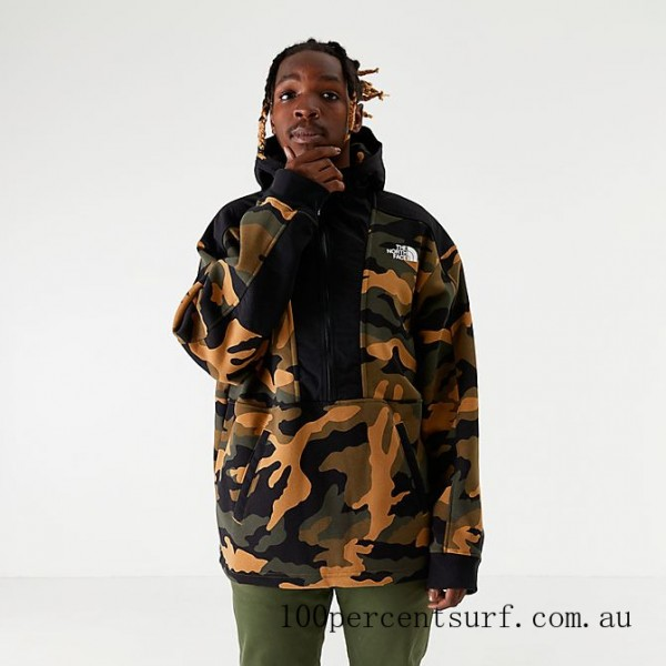 Men's The North Face Graphic Collection Half-Zip Hoodie Camo On Sale